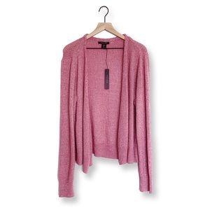 ✨NWT✨ Tahari • Pink Waterfall Open Front Cardigan